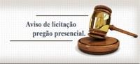 AVISO DE LICITAÇÃO - PREGÃO PRESENCIAL Nº 001/2021.