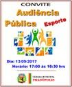 Convite a População Audiência Pública
