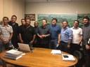 Na tarde desta sexta-feira, os Vereadores estiveram com o Deputado Estadual, Léo Oliveira e o Deputado Federal, Baleia Rossi, para viabilizar uma emenda parlamentar.