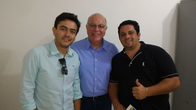 Os Vereadores Daniel Souza e Thiago Aquino estiveram com o Secretário da Agricultura e Deputado Federal Arnaldo Jardim.