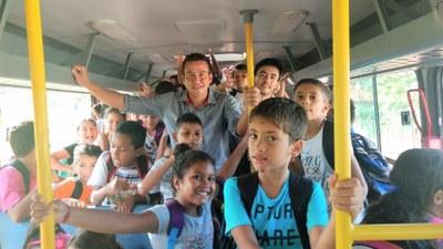 Vereadores Matheus Campos e Daniel Souza foram verificar de perto a situação do transporte escolar.