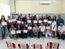 Vereadores participam de entrega do certificado da 1ª Turma do Programa Time do Emprego.